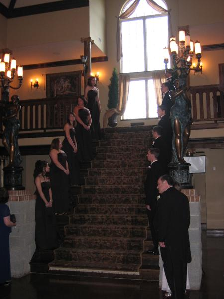 The Stairway awaiting the Bride and Groom to come down as husband and wife
