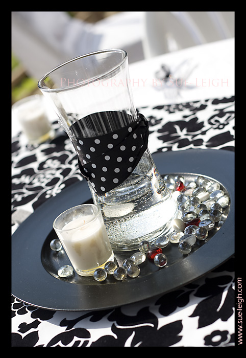 Black And White Centerpieces Candles 23